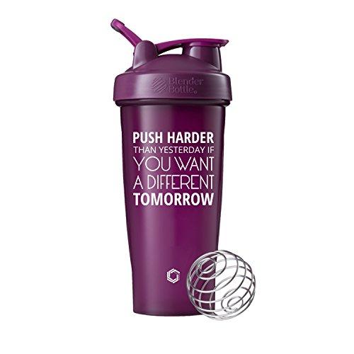 Push Harder Blender Bottle Shaker Cup 28oz Classic Blender Bottles Plum - 28oz