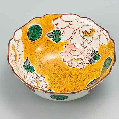 Japanese Ceramic Porcelain kutani ware Serving dish Salada plate A pieony Japanese ceramic Hagiyakiya 217
