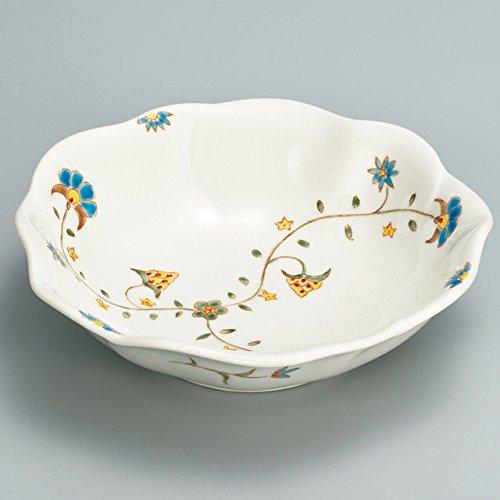 Japanese Ceramic Porcelain kutani ware Serving dish Salada plate Arabesque Japanese ceramic Hagiyakiya 228