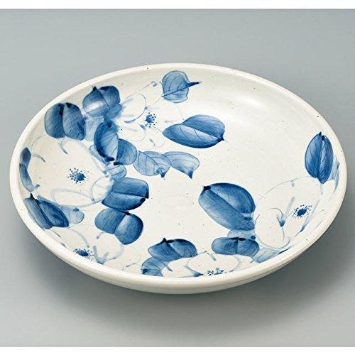Japanese Ceramic Porcelain kutani ware Serving dish Salada plate White Camellia Japanese ceramic Hagiyakiya 214