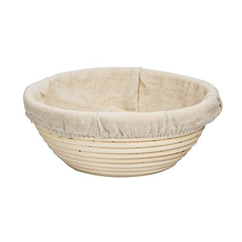 KOOTIPS Bread Basket Proofing Bowl - Premium Quality Multi-size Round Banneton Rattan For Rising Patterns Dough  Sourdough - Professional Brotform for Artisan Bread Baking 7inch 18X9CM