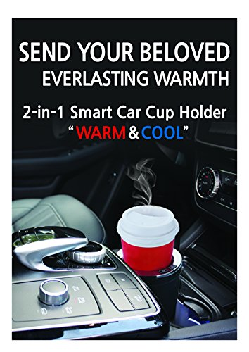 Warm Cool 2-in-1 Smart Car Cup Warmer and Cooler White