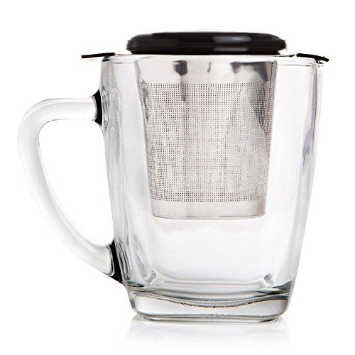 Extra Fine Mesh Tea Strainer Loose Leaf Infuser Large Infuser Basket Stainless Steel Filter