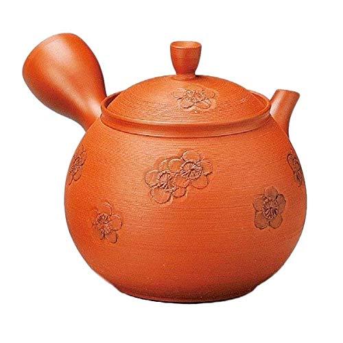 Japanese Kyusu tokoname Clay Teapot 115 floz Shudei Plum pattern L112