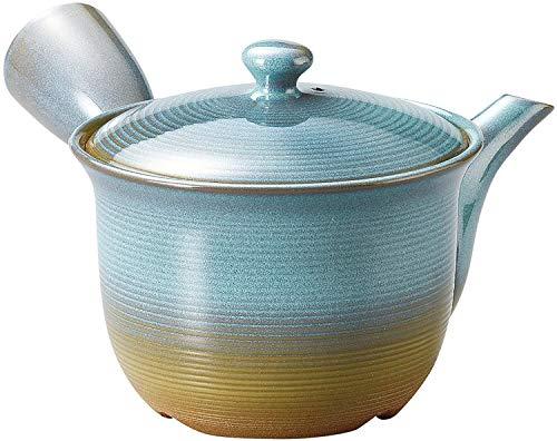 Tokoname Blue KyusuJapanese teapot 1015 floz from Japan Y262