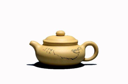 1pc Chinese Yixing Handmade Vintage Fanggu Hu Zisha Clay Teapot Lv Ni By Zhang Chunqiang