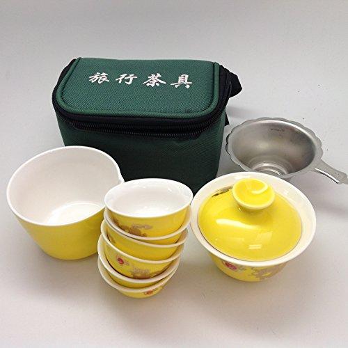 Gaiwan Tea Setyellow Dragon Travel Tea Set Y28