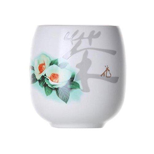 Chinese Japanese Ceramic Tea Cups Household Tea Set Teacup Set of 2 Camellia