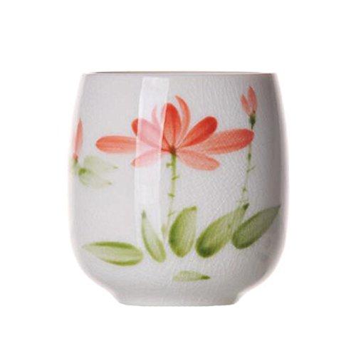 Chinese Japanese Ceramic Tea Cups Household Tea Set Teacup Set of 2 Lotus