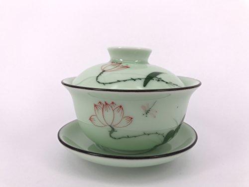 I-MART China Traditional TeacupChinese Tea CupGaiwan Tea Cup Lotus