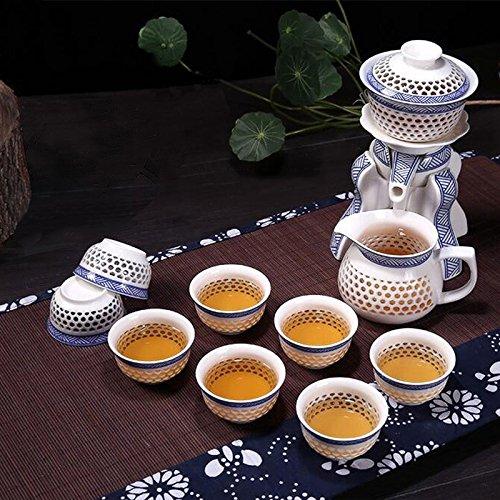 Lida - S11 Hollow-Out Porcelain Teasets - Automatic Tea Sets - Puer Tea Green Tea Teapot Gaiwan Tea Cup