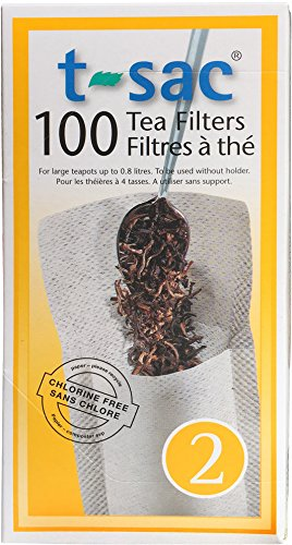 Modern Tea Filter Bags Disposable Tea Infuser Size 2 Set of 100 Filters - Heat Sealable Natural Easy to Use Anywhere No Cleanup – Perfect for Teas Coffee Herbs - from Magic Teafit