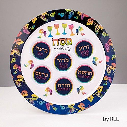Passover Pastels Seder Plate Melamine 12round
