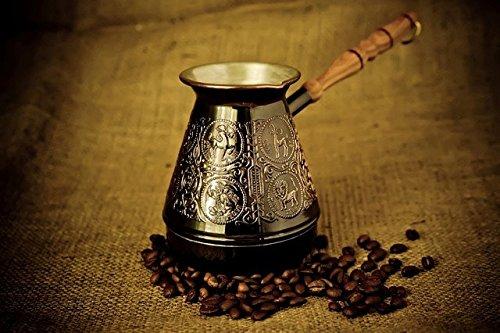 Coffee Maker Turkish Arabic Greek Turka Copper Zodiac Pot 500ml 16 oz Original USA Seller