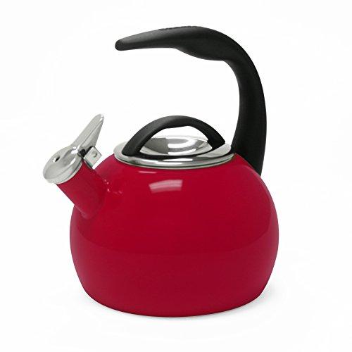 Chantal 40th Anniversary 2-Quart Enamel on Steel Teakettle Chile Red