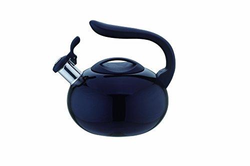 Kate Kitchen Sense 28 Quart Stainless Steel Whistling Tea Kettle Black