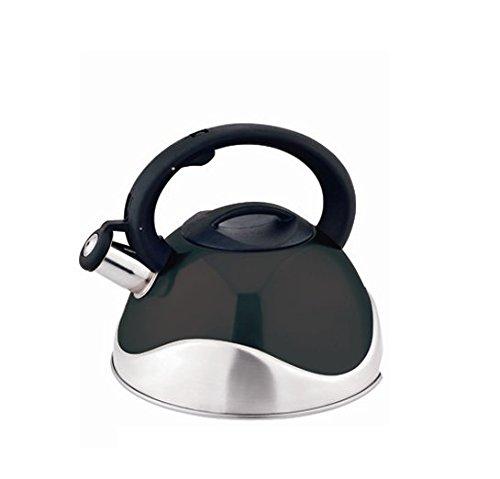 Kate Kitchen Sense 32 Quart Stainless Steel Whistling Tea Kettle Black