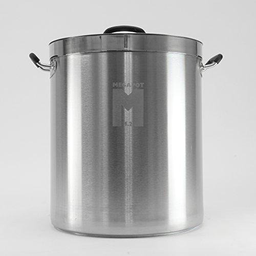MegaPot 12 Stainless Steel Brew Kettle Pot - 30 Gallon  120 Quart