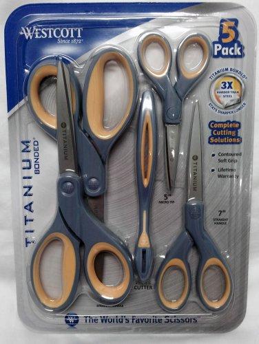 Westcott Titanium Bonded 5 Pack Scissors