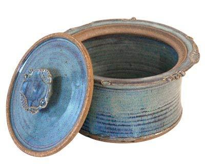 BestNest Anthony Stoneware 15 Quart Covered Casserole French Blue