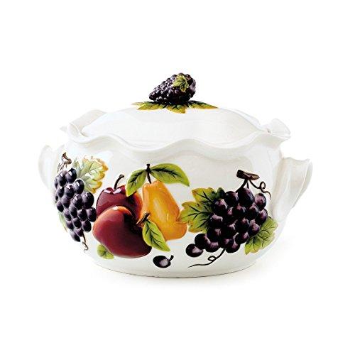 Celebrating Home Sonoma Villa Bean Pot stoneware casserole dish - oven microwave dishwasher safe