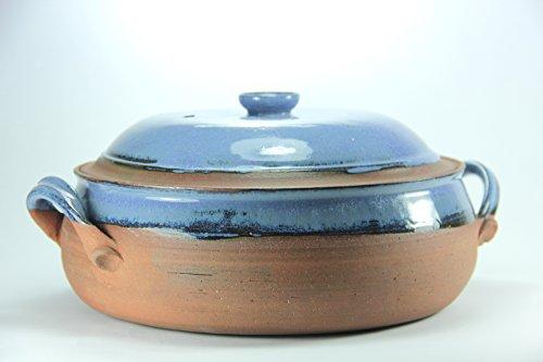 Ceramic Cooking Pot Stoneware Casserole Dish Pottery Casserole Bake Gift Set blue Casserole Cooking Utensil hand made cooking pot