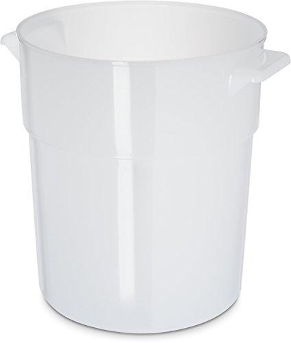 Carlisle 035002 Bain Marie Round Storage Container 35 Quart Polyethylene White