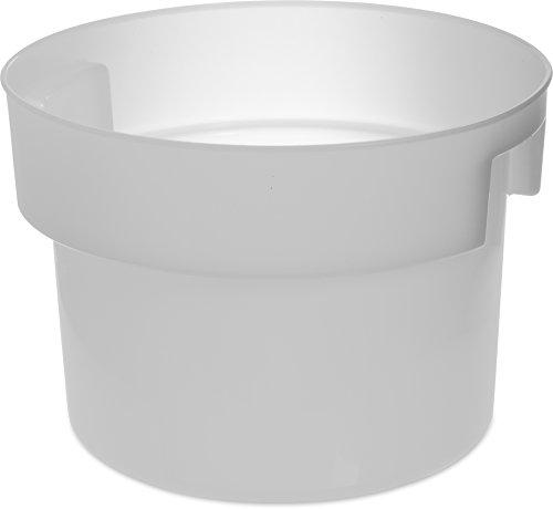 Carlisle 120002 Bain Marie Round Storage Container 12 Quart Polyethylene White
