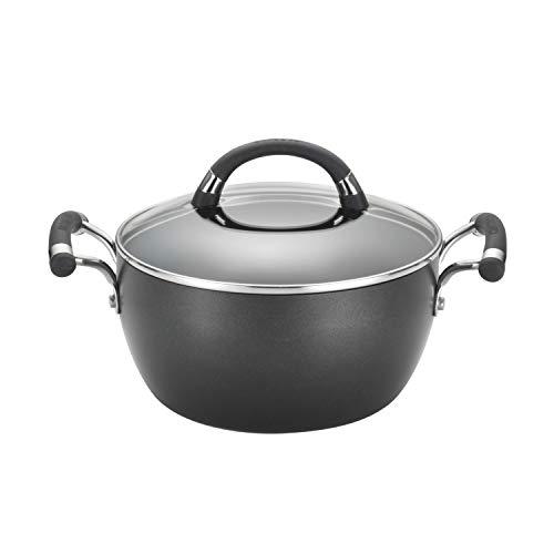 Circulon 83482 Espree Hard Anodized Nonstick DishCasserole Pan with Lid 45 Quart Black