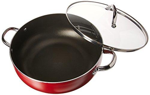 Farberware 22016 Buena Cocina  Nonstick Casserole DishCaldero DishCasserole Pan with Lid - 65 Quart  Red