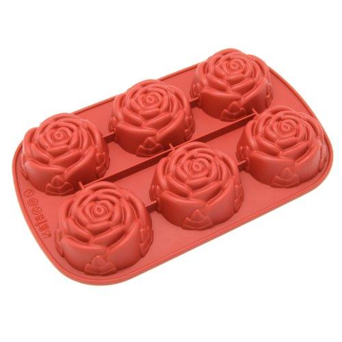 Freshware 6-Cavity Mini Rose Mold and Baking Pan