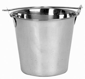 NEW 13 Qt Quart Heavy-Duty Water Bucket Ice Bucket Utility Bucket - Stainless Steel