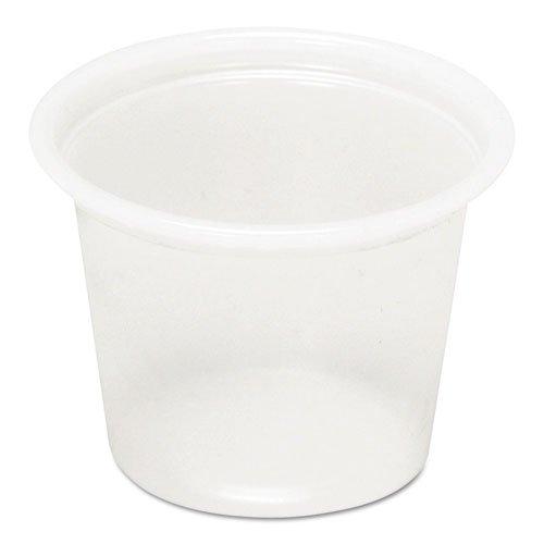 Pct YS100 1 oz Plastic Souffle Cups - Translucent