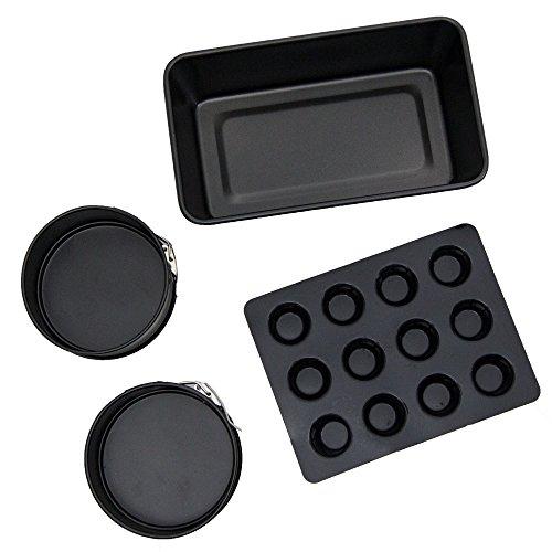 Ninja Heavy-Duty Mini Muffin Pan Loaf Pan 2 Mini Spring Form Pan Set  XC701K4