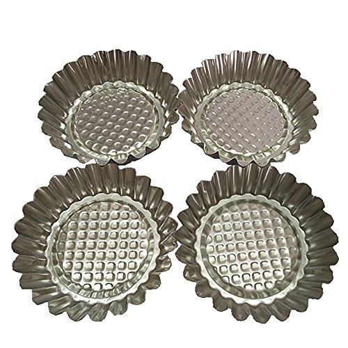Set of 20 MYStar 3-34 Fluted Design Round Shape Non-stick Aluminum Tart Mold Mini Pie Tin Tartlet Pan