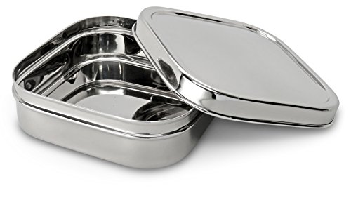 Lifestyle Block Eco-Friendly Stainless Steel Sandwich Container - X-Large - Compare to EcoLunchboxes
