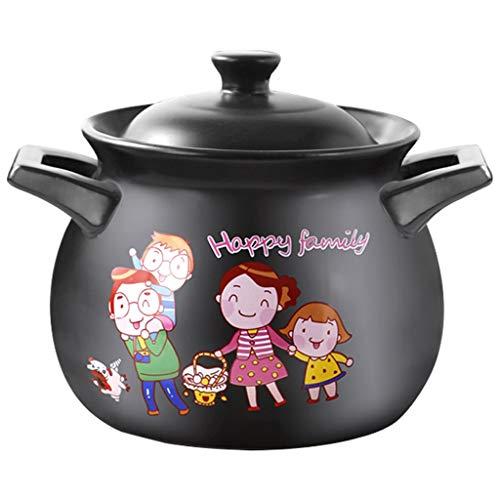 Stock Pots High Temperature Resistant Casserole Soup Pot Ceramic Casserole Soup Pot Household Fire Gas Soup Pot 27L39L5L6L Soup Pots Size  6l