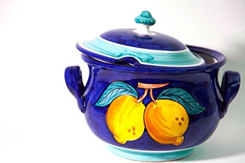Vietri Ceramic handmade Italy Stock pot Soup Pot