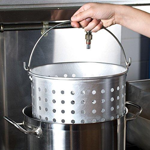 20 Qt Aluminum Stock Pot Steamer Basket