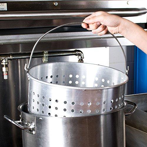 60 Qt Aluminum Stock Pot Steamer Basket