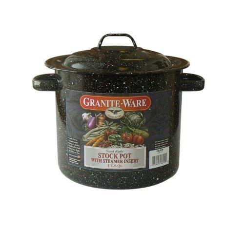 Granite Ware 6209-4 Stock Pot with Steamer Insert 4-Quart by Granite Ware