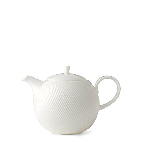 Flute White Teapot by Teavana