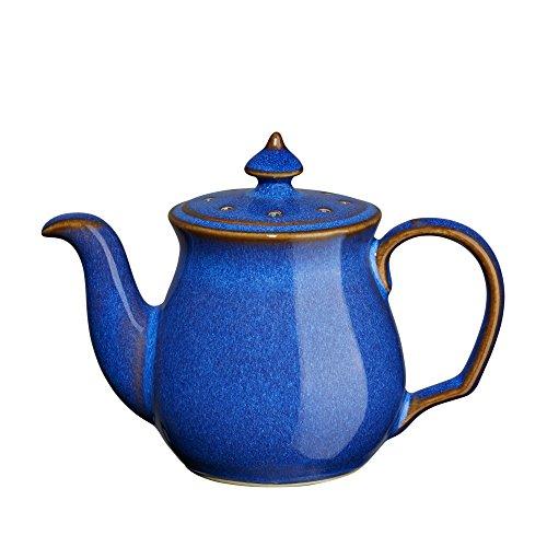 Denby Imperial Blue Teapot Pepper Shaker Royal Blue