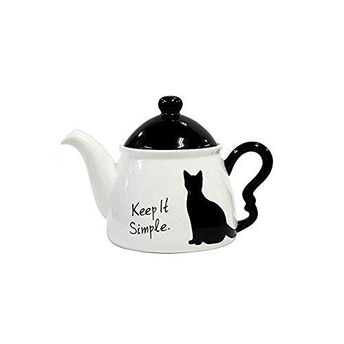 Alta Black Cat Teapot Simple from Japan