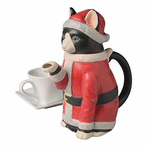 Christmas Cat Teapot