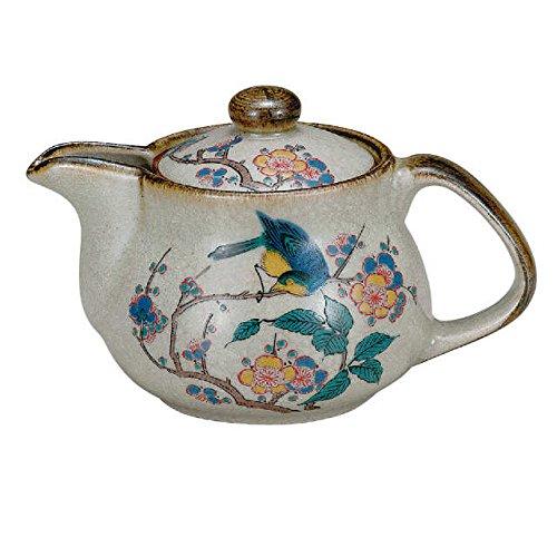 Japanese Ceramic Porcelain kutani ware Japanese kyusu teapot Flower and bird Japanese ceramic Hagiyakiya K4-572