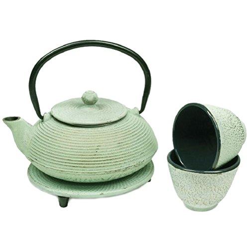 Gift Box -Tetsubin Light green teapot Japanese 06 liter