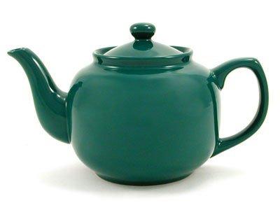 Green Classic 6 Cup Ceramic Teapot