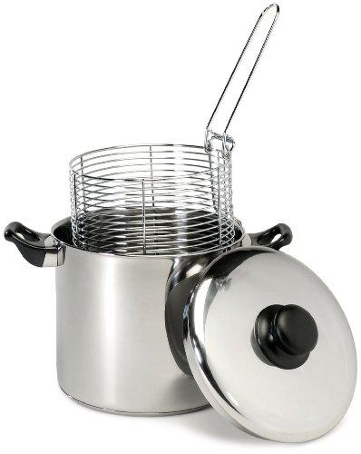 Excelsteel 6 Quart Stainless Steel Stove Top Deep Fryer