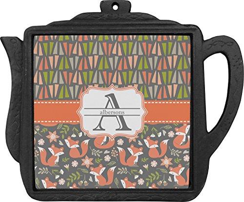 Fox Trail Floral Teapot Trivet Personalized